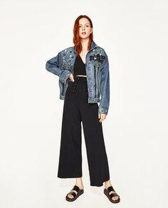 Джинсовая куртка с металлическими деталями Zara