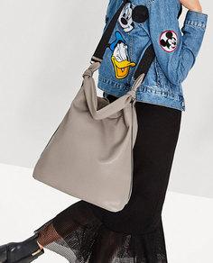 Сумка-мешок с ручкой с узлом Zara
