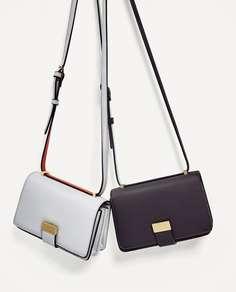 Двухцветная сумка с плечевым ремнем Zara