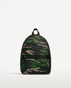 """Рюкзак с камуфляжным принтом цвета хаки, для ноутбука с диагональю 13"""" Zara"""