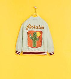 Куртка-бомбер с надписью paraíso Zara