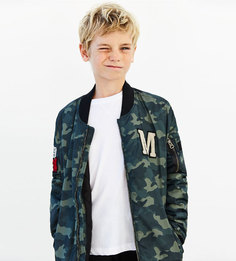 Куртка-бомбер с камуфляжным принтом Zara