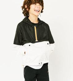 Двухцветная куртка-кенгуру Zara