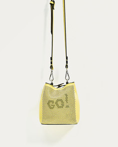 Сумка-мешок мини-формата с заклепками Zara
