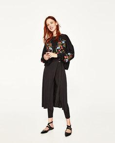 Толстовка с цветочной вышивкой Zara