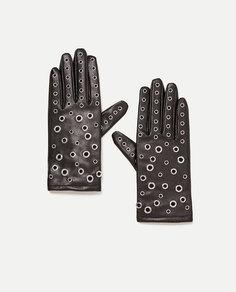 Перчатки из искусственной кожи Zara