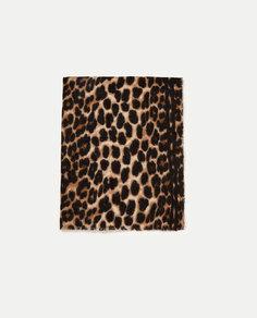 Платок с животным принтом Zara