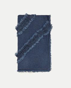 Платок джинсовой расцветки с воланами Zara