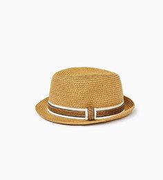Шляпа с контрастной лентой Zara