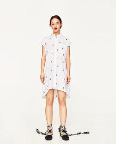Платье-рубашка «ананасы» Zara