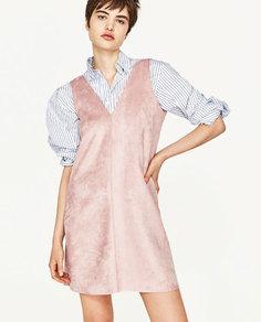 Платье с замшевым эффектом Zara