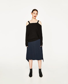 Свитер в стиле oversize с вырезами Zara