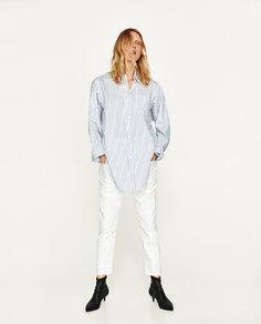 Рубашка из поплина в полоску Zara