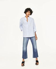 Рубашка из поплина с пуговицами-жемчужинами Zara