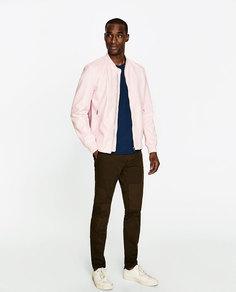 Куртка-бомбер из искусственной кожи Zara