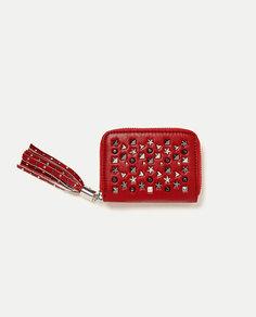 Бумажник-кошелек с заклепками Zara