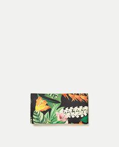 Бумажник с тропическим принтом Zara