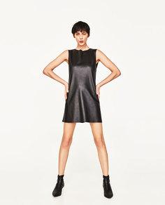 Платье из искусственной кожи Zara