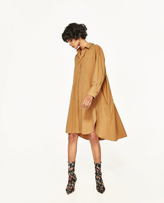 Платье рубашечного кроя Zara