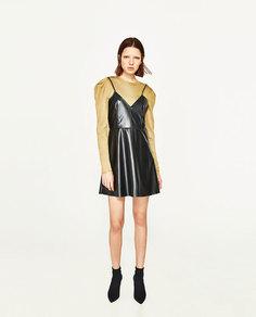 Мини-платье из искусственной кожи Zara
