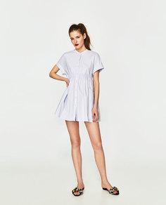Платье с пуговицами-жемчужинами Zara