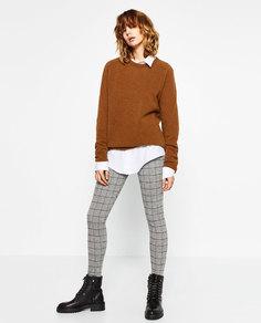 Брюки из жаккардовой ткани Zara