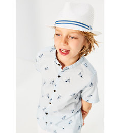 Шляпа с лентой в полоску Zara