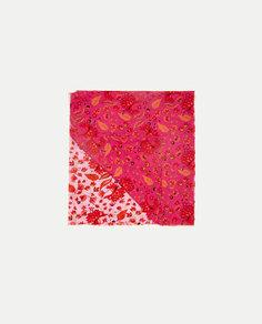 Платок с цветочным принтом Zara