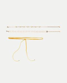 Набор из трех ожерелий «маргаритки» Zara