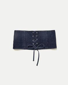Джинсовый корсет со шнуровкой Zara