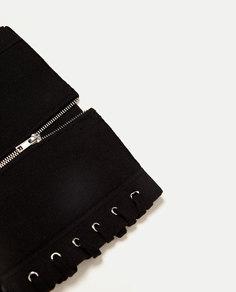 Трикотажный корсет со шнуровкой и молнией Zara