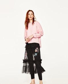 Юбка из тюля с вышивкой Zara