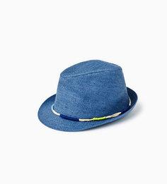 Соломенная шляпа с разноцветным шнуром Zara