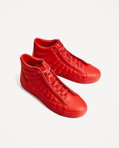 Кеды красного цвета Zara