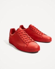 Красные кеды с перфорацией Zara