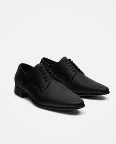Черные туфли со шнуровкой Zara