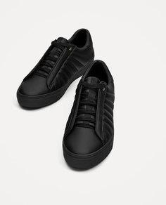 Черные стеганые кроссовки Zara