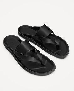 Базовые черные сандалии Zara