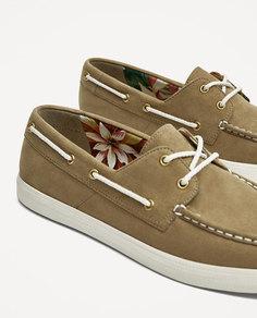 Бежевые спортивные туфли Zara
