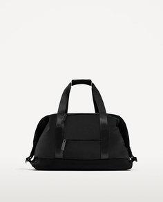 Черная спортивная сумка-боулинг Zara