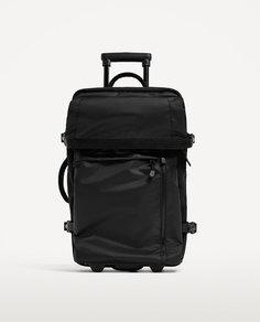 Многофункциональный черный чемодан-тележка Zara