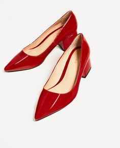 Туфли на широком среднем каблуке Zara