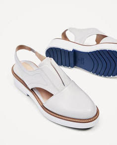 Туфли-блюхерс без задников, на платформе Zara