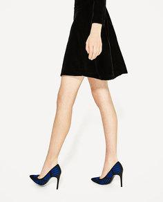Туфли-лодочки из ткани Zara