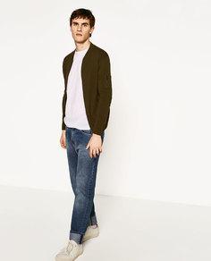 Куртка-бомбер из трикотажа Zara