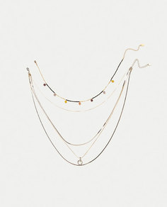 Набор из 2 ожерелий с цепочками Zara