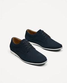 Замшевые туфли с тиснением Zara