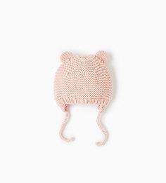 Трикотажная шапка с ушками Zara