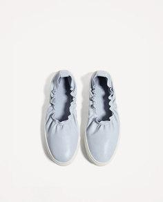 Слипоны с эластичными деталями Zara