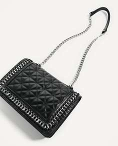 Стеганая сумка с ремнем через плечо Zara